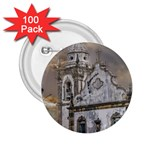 Exterior Facade Antique Colonial Church Olinda Brazil 2.25  Buttons (100 pack)
