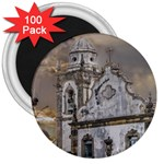 Exterior Facade Antique Colonial Church Olinda Brazil 3  Magnets (100 pack)