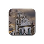 Exterior Facade Antique Colonial Church Olinda Brazil Rubber Square Coaster (4 pack)