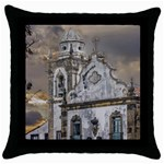 Exterior Facade Antique Colonial Church Olinda Brazil Throw Pillow Case (Black)