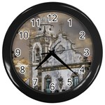 Exterior Facade Antique Colonial Church Olinda Brazil Wall Clocks (Black)