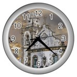 Exterior Facade Antique Colonial Church Olinda Brazil Wall Clocks (Silver)