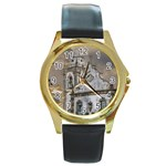 Exterior Facade Antique Colonial Church Olinda Brazil Round Gold Metal Watch