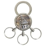 Exterior Facade Antique Colonial Church Olinda Brazil 3-Ring Key Chains