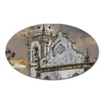 Exterior Facade Antique Colonial Church Olinda Brazil Oval Magnet