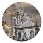 Exterior Facade Antique Colonial Church Olinda Brazil Magnet 5  (Round)