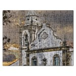 Exterior Facade Antique Colonial Church Olinda Brazil Rectangular Jigsaw Puzzl