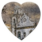 Exterior Facade Antique Colonial Church Olinda Brazil Jigsaw Puzzle (Heart)