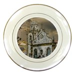 Exterior Facade Antique Colonial Church Olinda Brazil Porcelain Plates