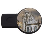 Exterior Facade Antique Colonial Church Olinda Brazil USB Flash Drive Round (4 GB)