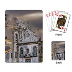 Exterior Facade Antique Colonial Church Olinda Brazil Playing Card