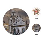 Exterior Facade Antique Colonial Church Olinda Brazil Playing Cards (Round)
