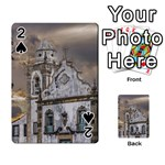 Exterior Facade Antique Colonial Church Olinda Brazil Playing Cards 54 Designs
