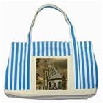 Exterior Facade Antique Colonial Church Olinda Brazil Striped Blue Tote Bag
