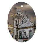 Exterior Facade Antique Colonial Church Olinda Brazil Oval Ornament (Two Sides)