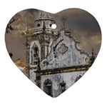 Exterior Facade Antique Colonial Church Olinda Brazil Heart Ornament (2 Sides)