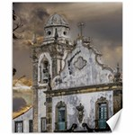 Exterior Facade Antique Colonial Church Olinda Brazil Canvas 8  x 10