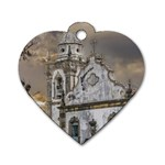 Exterior Facade Antique Colonial Church Olinda Brazil Dog Tag Heart (Two Sides)