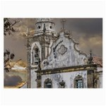 Exterior Facade Antique Colonial Church Olinda Brazil Large Glasses Cloth (2-Side)