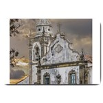 Exterior Facade Antique Colonial Church Olinda Brazil Large Doormat