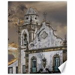 Exterior Facade Antique Colonial Church Olinda Brazil Canvas 11  x 14
