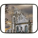 Exterior Facade Antique Colonial Church Olinda Brazil Double Sided Fleece Blanket (Mini)