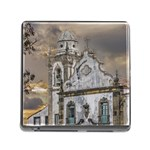Exterior Facade Antique Colonial Church Olinda Brazil Memory Card Reader (Square)