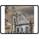 Exterior Facade Antique Colonial Church Olinda Brazil Fleece Blanket (Large)