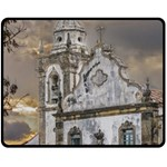 Exterior Facade Antique Colonial Church Olinda Brazil Fleece Blanket (Medium)