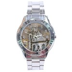 Exterior Facade Antique Colonial Church Olinda Brazil Stainless Steel Analogue Watch