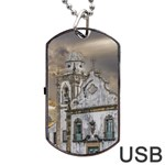 Exterior Facade Antique Colonial Church Olinda Brazil Dog Tag USB Flash (One Side)