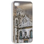 Exterior Facade Antique Colonial Church Olinda Brazil Apple iPhone 4/4s Seamless Case (White)