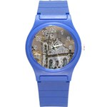 Exterior Facade Antique Colonial Church Olinda Brazil Round Plastic Sport Watch (S)