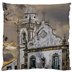 Exterior Facade Antique Colonial Church Olinda Brazil Large Cushion Case (Two Sides)