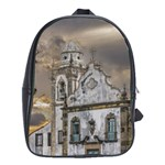Exterior Facade Antique Colonial Church Olinda Brazil School Bags (XL)