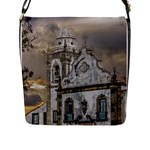 Exterior Facade Antique Colonial Church Olinda Brazil Flap Messenger Bag (L)