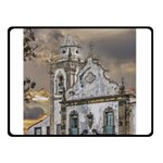 Exterior Facade Antique Colonial Church Olinda Brazil Double Sided Fleece Blanket (Small)
