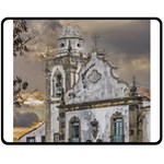 Exterior Facade Antique Colonial Church Olinda Brazil Double Sided Fleece Blanket (Medium)