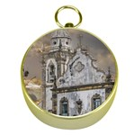 Exterior Facade Antique Colonial Church Olinda Brazil Gold Compasses