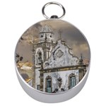Exterior Facade Antique Colonial Church Olinda Brazil Silver Compasses