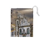 Exterior Facade Antique Colonial Church Olinda Brazil Drawstring Pouches (Medium)