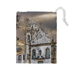 Exterior Facade Antique Colonial Church Olinda Brazil Drawstring Pouches (Large)