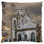 Exterior Facade Antique Colonial Church Olinda Brazil Large Flano Cushion Case (Two Sides)