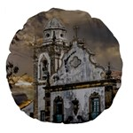 Exterior Facade Antique Colonial Church Olinda Brazil Large 18  Premium Flano Round Cushions