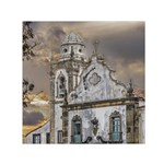 Exterior Facade Antique Colonial Church Olinda Brazil Small Satin Scarf (Square)