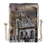 Exterior Facade Antique Colonial Church Olinda Brazil Drawstring Bag (Large)