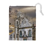 Exterior Facade Antique Colonial Church Olinda Brazil Drawstring Pouches (Extra Large)