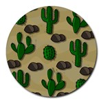 Cactuses Round Mousepads