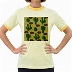Cactuses Women s Fitted Ringer T-Shirts