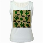 Cactuses Women s White Tank Top